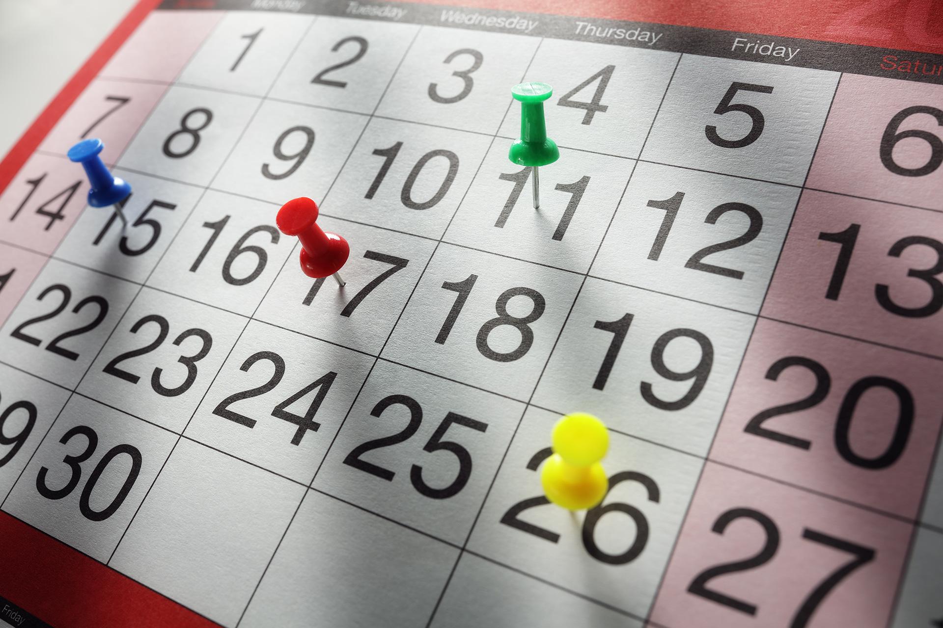 Kalendarz, ilustracja do newsa o gali KSW